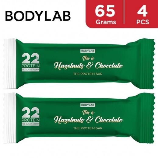 Bodylab Protein Bar Hazelnut & Chocolate 4 x 65 g