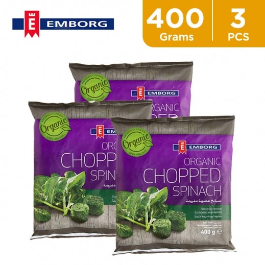 ValuePack - Emborg Organic Chopped Spinach 3 x 400 g