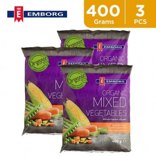 Emborg Organic Mixed Vegetables 3 x 400 g