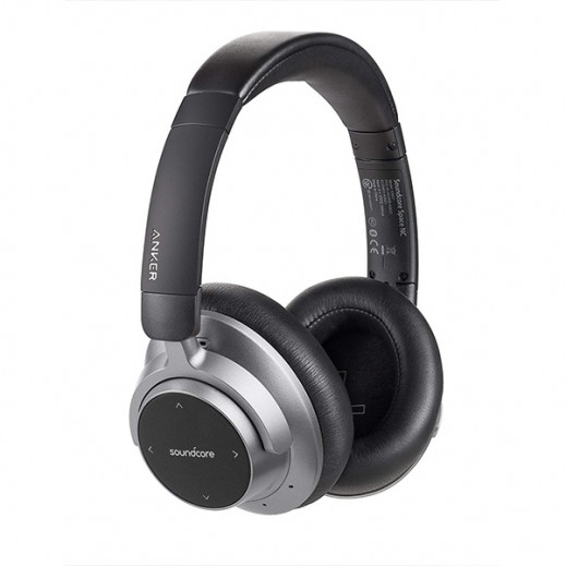 Anker Foldable On-Ear Soundcore Space NC Headphone with Mic - Black
