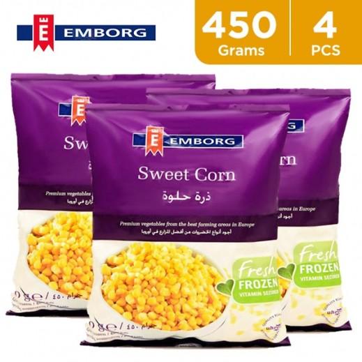 Value Pack - Emborg Frozen Sweet Corn 450 g (4 Pieces)