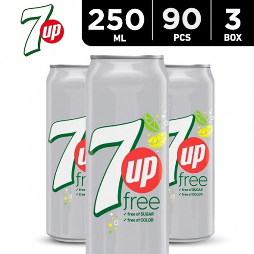7up Diet Can 250 ml (3 x 30)