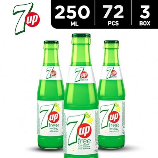7Up Diet Bottle 250 ml (3 x 24)
