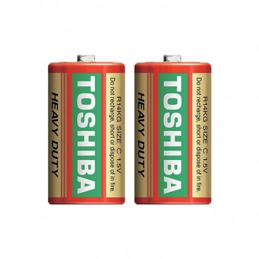 Toshiba C Carbon Zinc Heavy Duty Batteries 2 Pcs (1.5V)