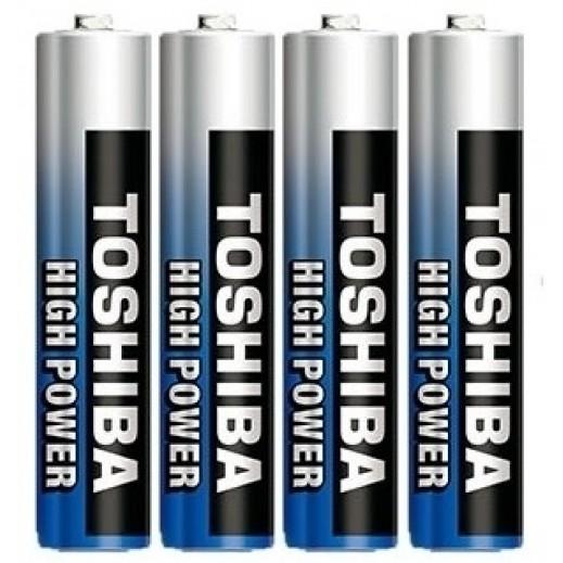 Toshiba 1.5V AAA Alkaline High Power Batteries - 4 Pcs