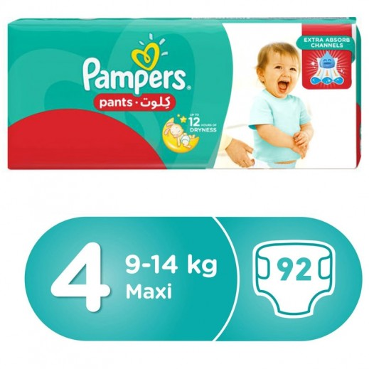 Pampers Pants Stage 4 (9-14 Kg) Maxi Mega Box 92 Pieces