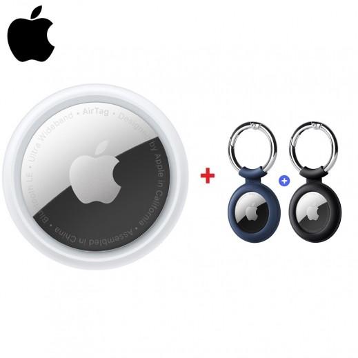 Apple AirTag + ESR Cloud Tag Keychain for Apple Airtag (2 PCS)