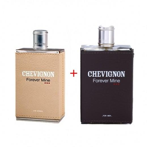 Bundle Of 2 Chevignon Forever Mine For Her EDT 100 ml + Forever Mine For Him EDT 100 ml