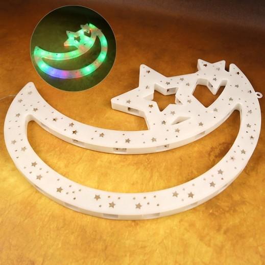 Ramadan LED Decoration Crescent with Star