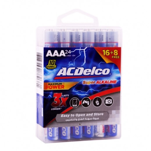 Ac Delco Battery >> Ac Delco Alkaline Aaa 1 5v Battery Pack 16 8 Pcs Free Lr03