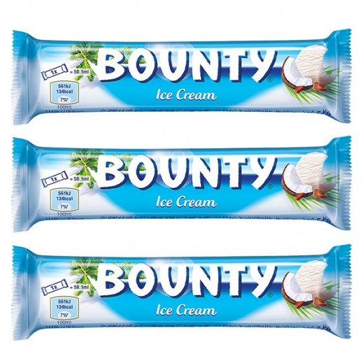 Bounty Ice Cream 50 ml (3 Pieces)
