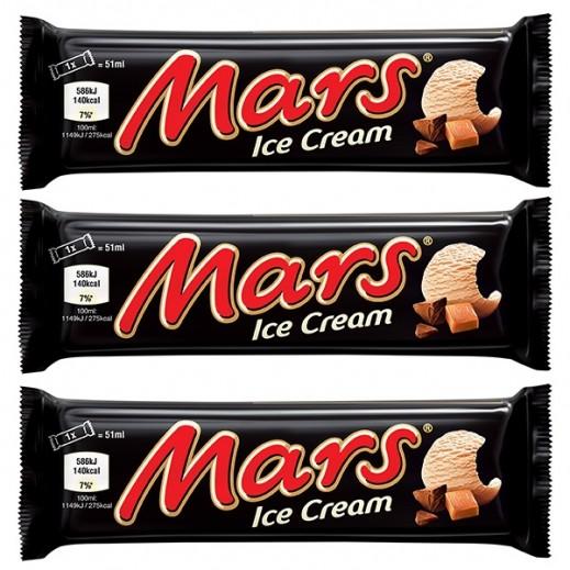 Mars Ice Cream Bars 51 ml (3 Pieces)