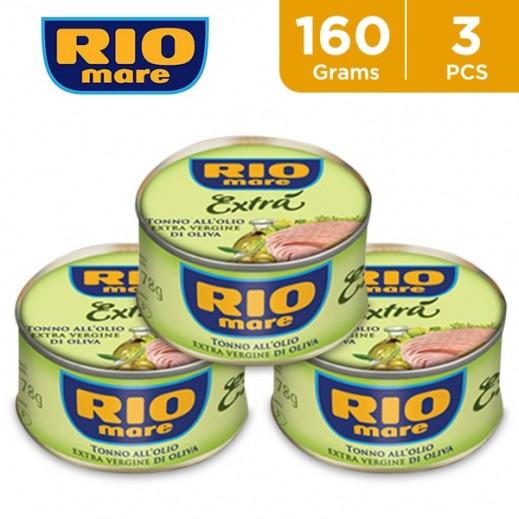 Rio Mare Tuna In Extra Virgin Oil 3 x 160 g