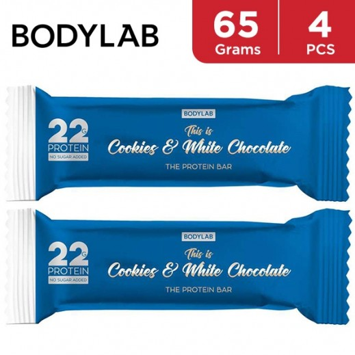 Bodylab Protein Bar Cookies & White Chocolate 4 x 65 g
