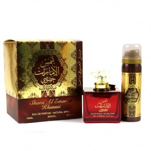 Ard Al Zaafaran Shams Al Emarat Khususi For Unisex EDP 100 ml + Deodorant 50 ml