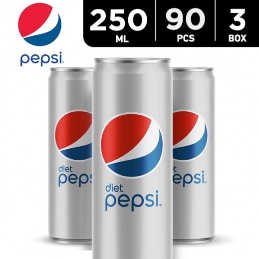 Wholesale - Pepsi Diet Can 250 ml (3x30 pieces)