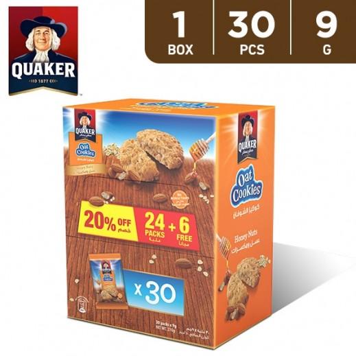 Quaker Oat Cookies Honey & Nuts 9 g (24 + 6 Free)