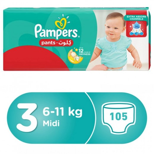 Pampers Pants Stage 3 (6-11 Kg) Midi Mega Box 105 Pieces
