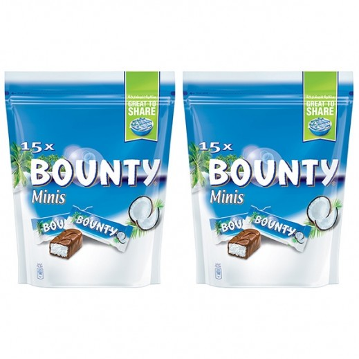 Bounty Minis Chocolate 2 x 427.5 g