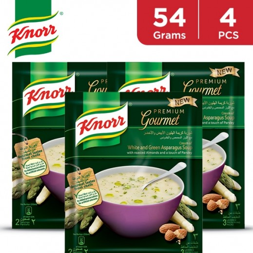 Knorr Packet Soup White & Green Asparagus 4 x 54 g