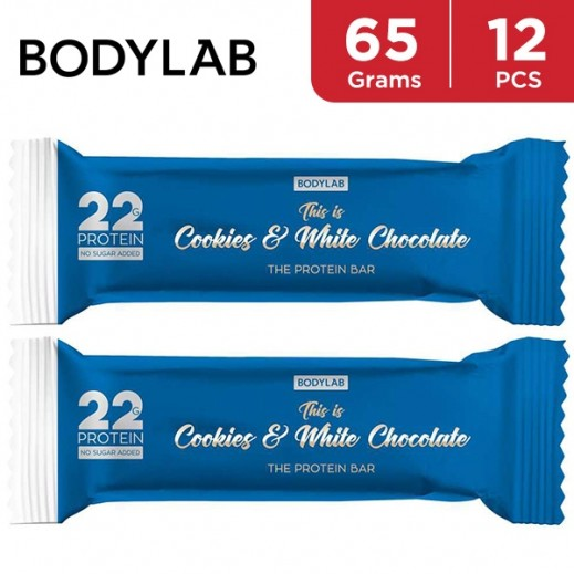 Bodylab Protein Bar Cookies & White Chocolate 12 x 65 g