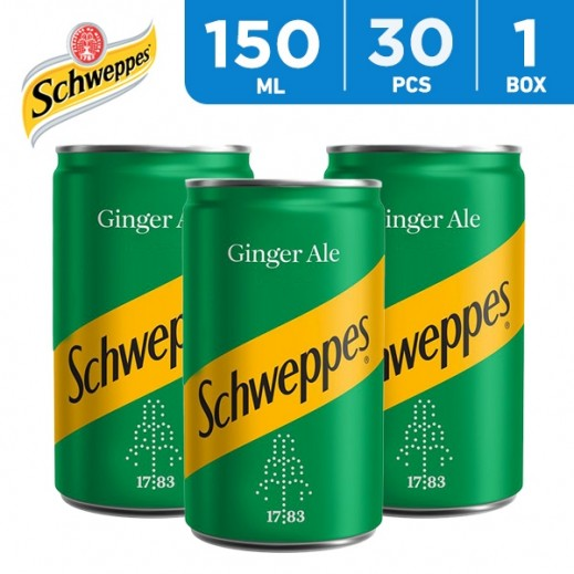 Schweppes Ginger Ale Can Carton 30 x 150 ml