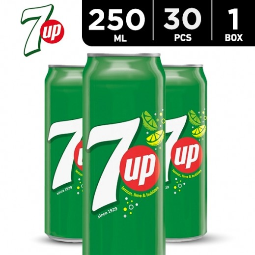 7up Can Carton 30 x 250 ml