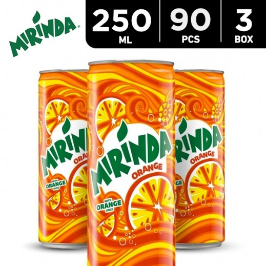 Wholesale - Mirinda Orange Drink Can 250 ml (3x30 pieces)