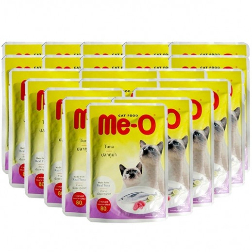 Me-O Real Tuna Kitten Food 24x80 g