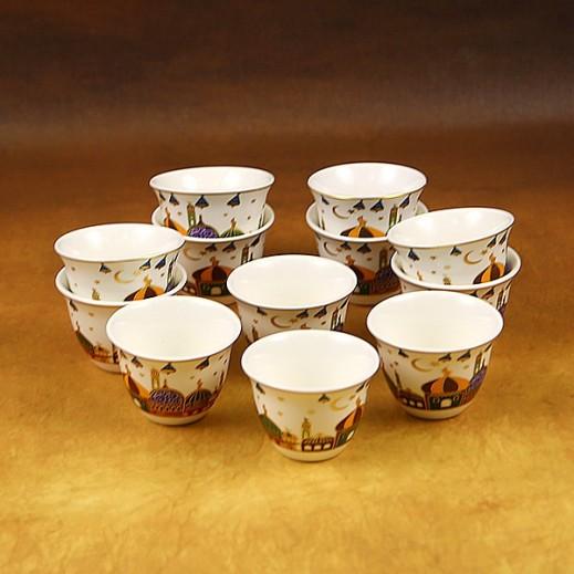 Ramadan Decorative Ceramic Coffee Cups Design 2  - 12 Pieces