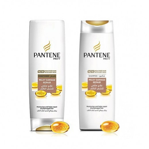 Pantene Milky Damage Repair Shampoo 400 ml + Conditioner 360 ml 25% Off Prom