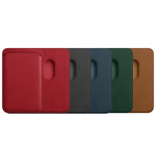 Leather Magnetic Card Holder for iPhone 12 / Pro / Pro Max / Mini