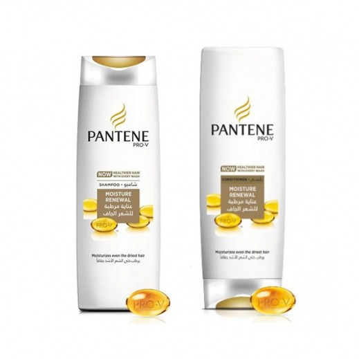 Pantene Moisture Renewal Shampoo 400 ml + Conditioner 360 ml