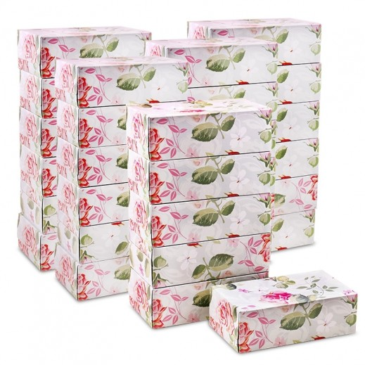 Taw9eel Floral Facial Tissues 150 x 2 Ply (10 x 5 Boxes)