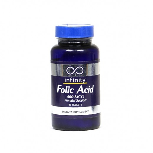 Infinity Folic acid 400 MCG Prenatal Support 90 Tablets