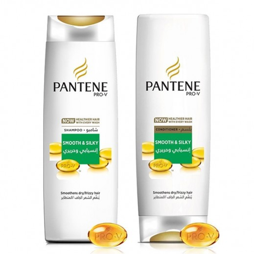 Pantene Smooth & Silky Shampoo 400 ml + Conditioner 360 ml