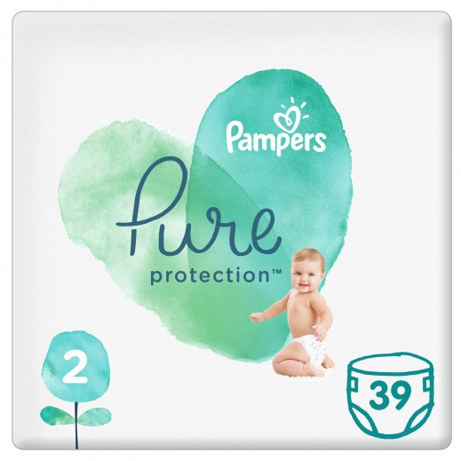 Pampers Pure protection Diapers Size 2 (4-8 Kg) 39 Pieces