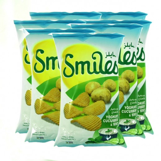 Fico Smiles Yoghurt Cucumber & Mint Chips 5 X 27 g