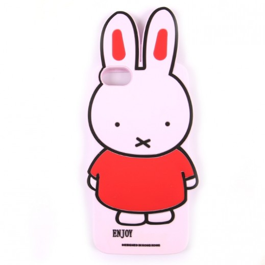 WK Design Silicone Rabbit Case for iPhone 7 / 8 - Pink