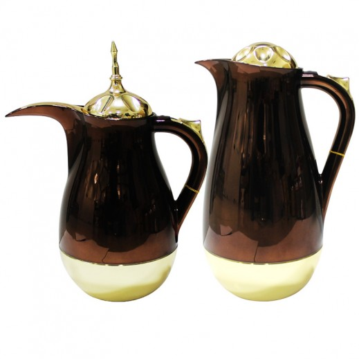 Golden Fire (Taiwan) Dalla Flask 2 pieces Set Brown