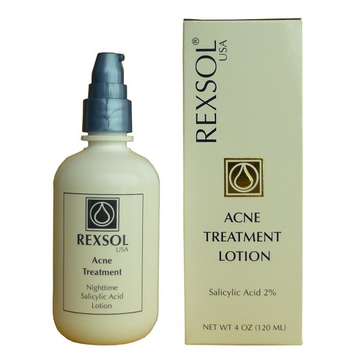 Rexsol USA Acne Treatment Night Time Salicylic Acid Lotion 120ml