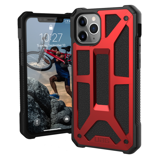 UAG Monarch Case for iPhone 11 Pro – Red & Black