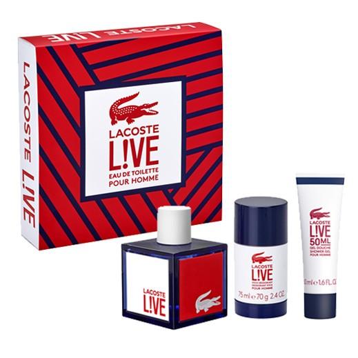 Lacoste Live Gift Set For Him EDT 100ml + Deostick 75ml + Shower Gel 50ml