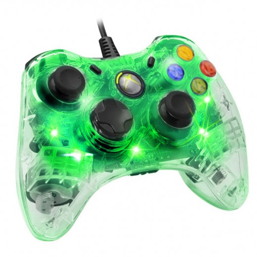 Glowing Wired Controller for Xbox 360/PC