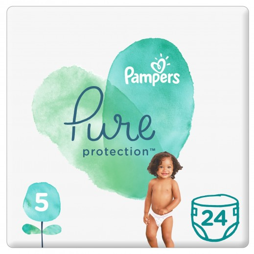 Pampers Pure protection Diapers Size 5 (11+ Kg) 24 Pieces