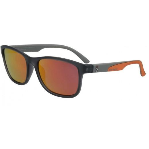 Real Madrid Grey and Orange Men's Sunglasses - 60 mm