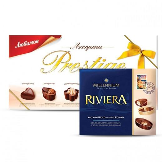 Millennium Sweets Lubimov Prestige Assorted Chocolate 286 g + Millennium Riviera Luxury Assorted Chocolate 125 g