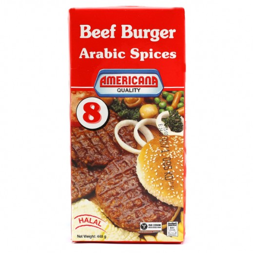 Americana Arabic Spices Burger 8s 448 g