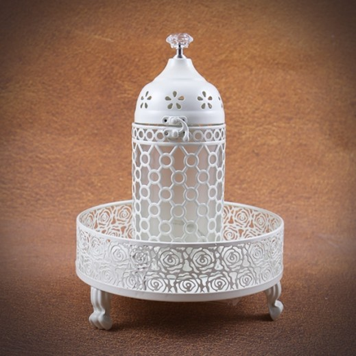Metal Lighting Lantern with Candy Tray