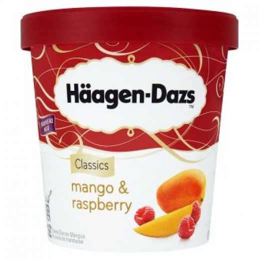 Haagen-Dazs Mango & Raspberry Ice Cream 100 Ml